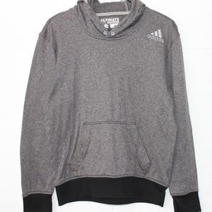 Adidas Size Small Gray Ultimate Hoodie Pullover